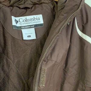 Columbia Jackets & Coats - Columbia Dark Brown Coat with Hood Size L